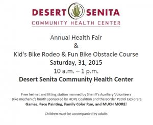 Annual Health Fair! @ Desert Senita Community Health Center | Ajo | Arizona | United States