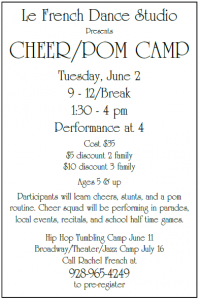 Cheer/ Pom Camp