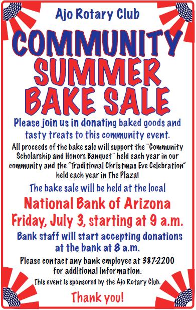 community bake sale