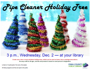 Create It! Pipe Cleaner Holiday Tree!!! @ Salazar Ajo-Library | Ajo | Arizona | United States