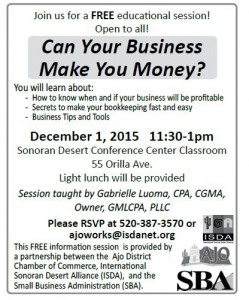 Can your Business Make you Money!!! @ Sonoran Desert Conference Center | Ajo | Arizona | United States