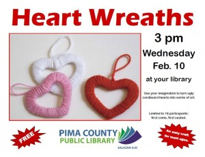 Create it : Heart Wreaths !!! @ Salazar Ajo- library | Ajo | Arizona | United States