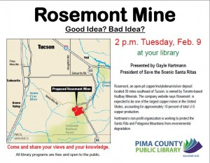 Rosemont Mine: Good or Bad Idea !!! @ Salazar Ajo- Library   Ajo   Arizona   United States