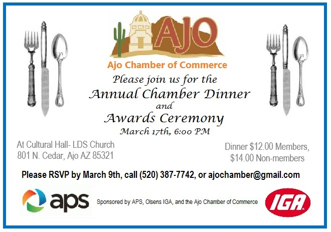 Annual Dinner and Awards Ceremony!! | Ajo, Arizona