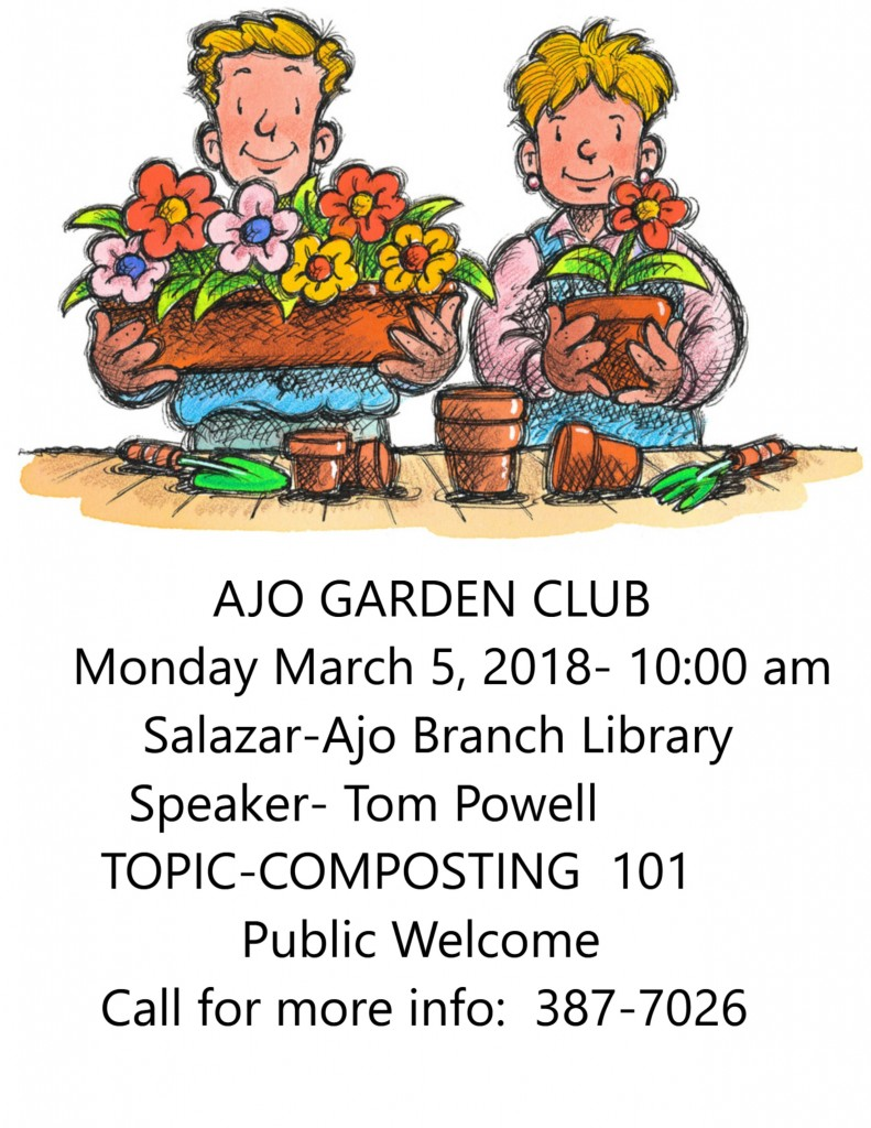 Garden Club Notice=MARCH