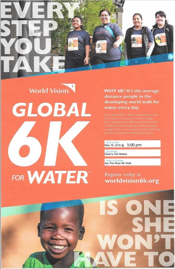 6 K walk poster