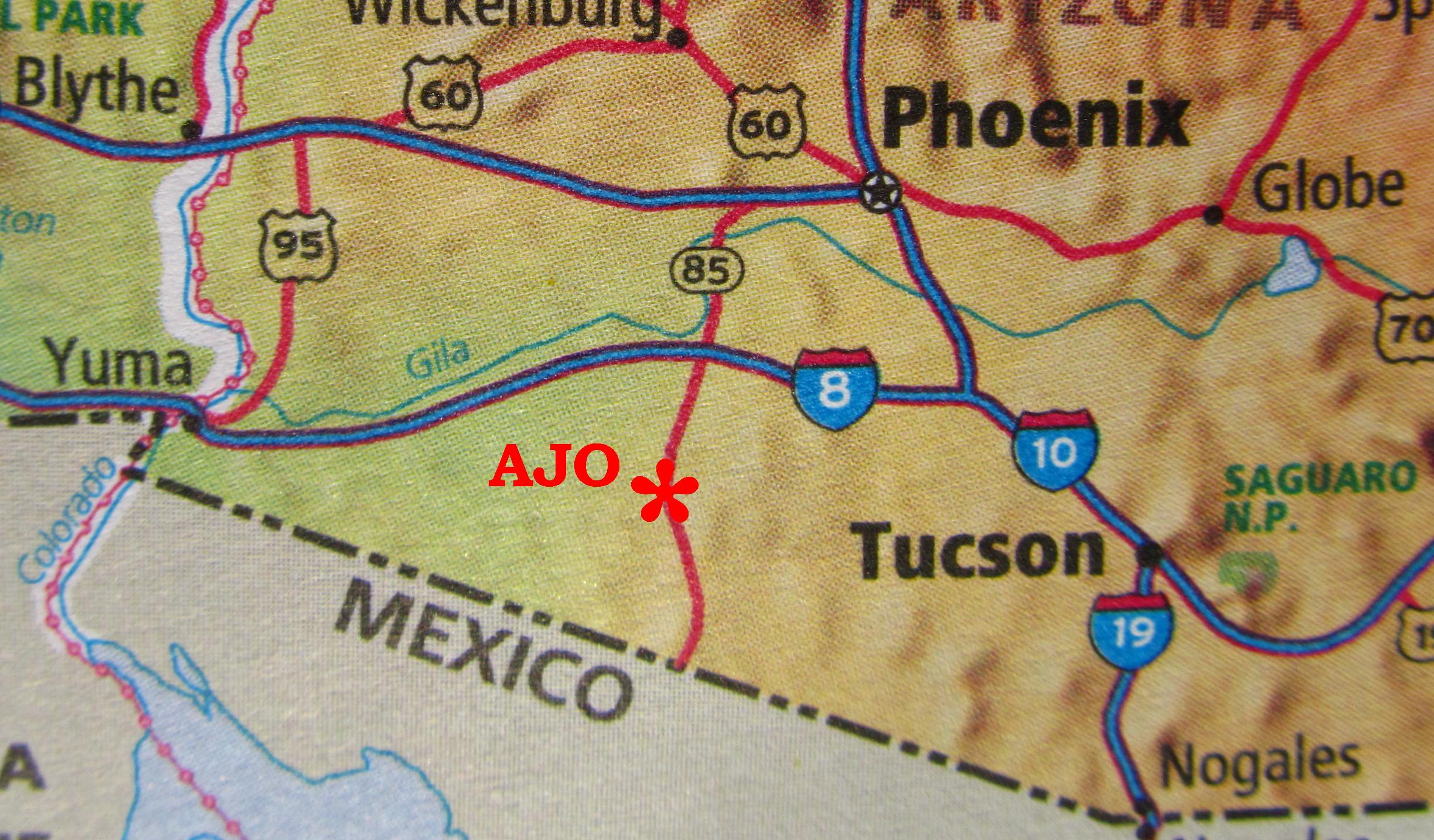 Ajo Arizona Map Finding Us | Ajo, Arizona